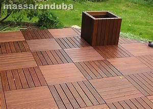 Terrasse En Caillebotis : dalle caillebotis en bois exotique ip 1000 x 1000 x 44 mm ~ Premium-room.com Idées de Décoration