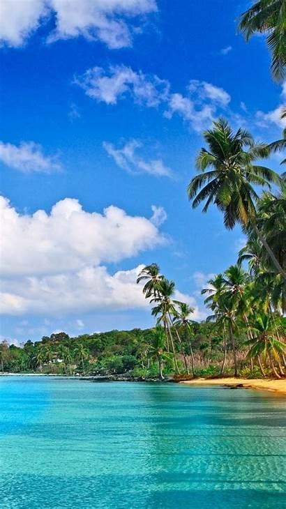 Iphone Tropical Phone Wallpapers Paradise Fondos Samsung