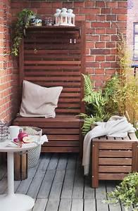 Balkon Bank Klein : 25 beste idee n over balkon meubels op pinterest klein ~ Michelbontemps.com Haus und Dekorationen
