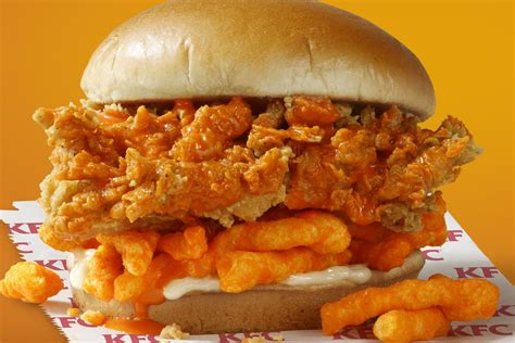 kfcs cheetos sandwich   limited time  junk food