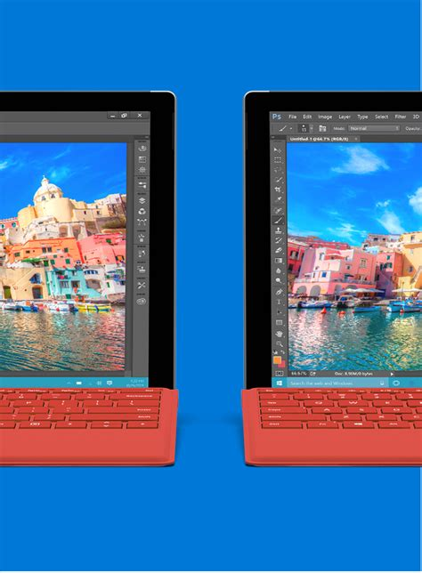 the surface pro 4 s pixelsense display has extremely high contrast and low glare giving you a
