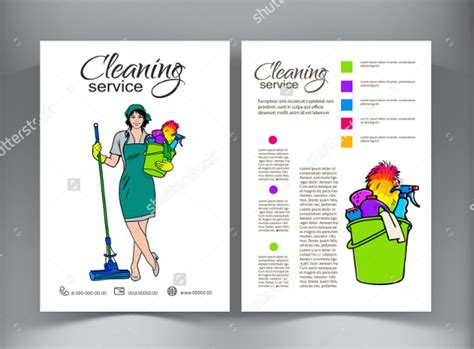 Cleaning Company Flyers Template by 17 Printable House Cleaning Flyers Templates Sle