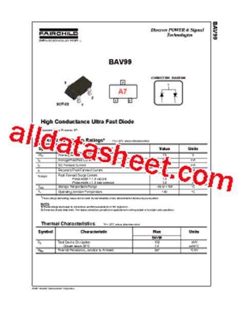 BAV99 Datasheet(PDF) - Fairchild Semiconductor