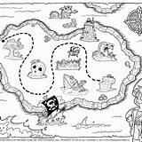 Treasure Coloring Pirate Map Pages Popular Coloringhome sketch template