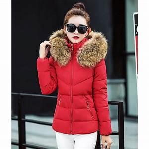 Doudoune femme à capuche fourrure Casual parka fourrure manteau femme hiver Grande Taille