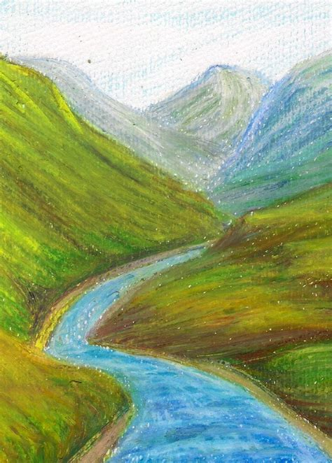 oil pastel  called wax oil crayon   painting