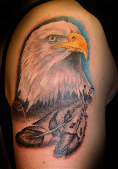 Shoulder Realistic Eagle Tattoo By Artic Tattoo