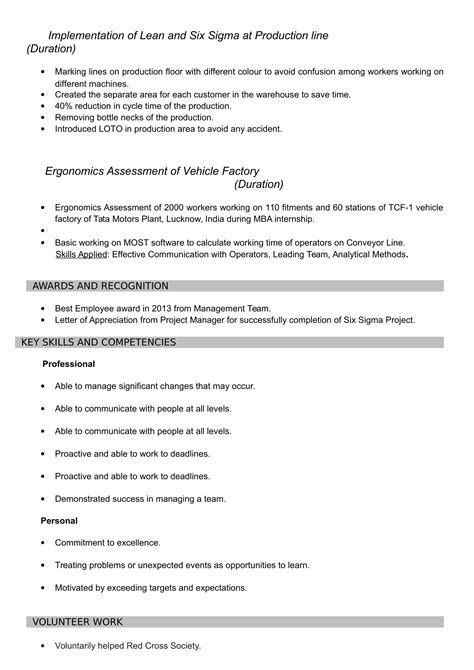 resume templates  mba freshers