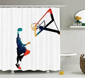 Themed shower curtains add pizzazz to any bathroom for Sports themed bathroom decor