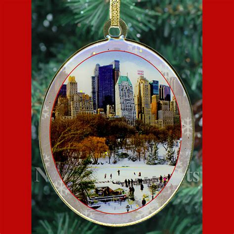 wollman rink in central park new york christmas ornament