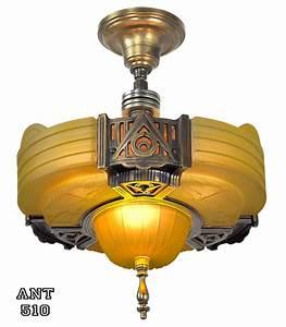 Art deco ceiling lights nz : Art deco ceiling light rare large u s antique