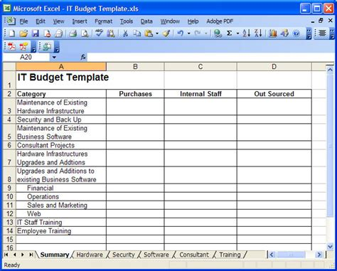 it budget template it budget template playbestonlinegames