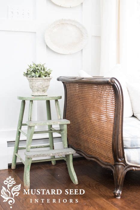 mustard seed interiors french daybed painted stool