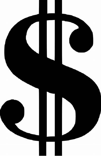 Dollar Sign Silhouette Clipart Getdrawings