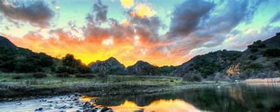 4k Hdr Nature Landscape Sky Clouds River