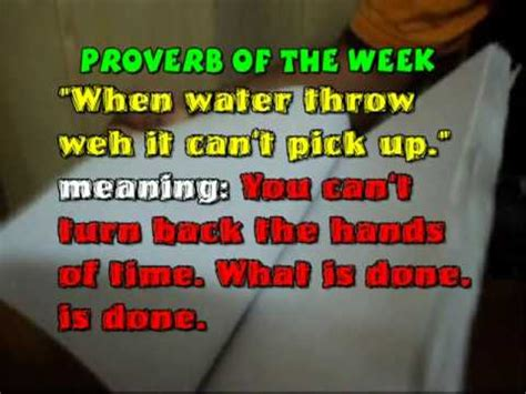 jamaican proverb   week youtube