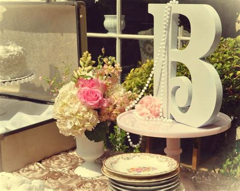 vintage tea party bridal wedding shower party ideas in