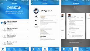 enchanting best free resume app for iphone component With top resume builder apps