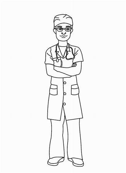 Nurse Coloring Pages Cartoon Nursing Drawing Books
