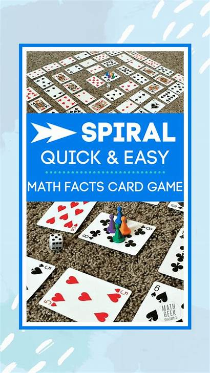 Math Games Easy Card Facts Quick Division