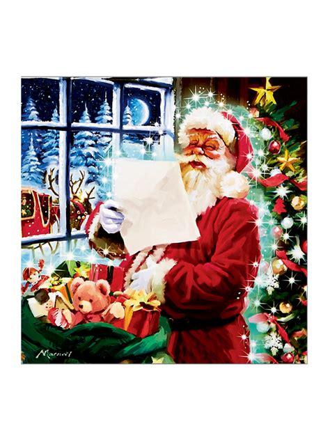light up christmas canvas scene led fibre optic picture