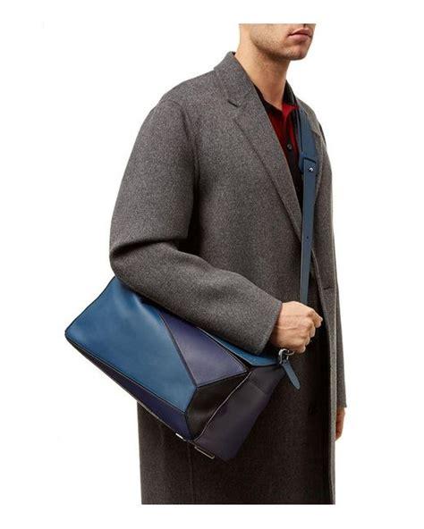 loewe puzzle bag xl  blue  men lyst
