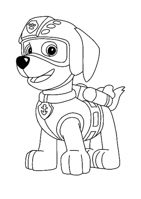 Paw Patrol Zuma Coloring Pages in 2020 Paw patrol