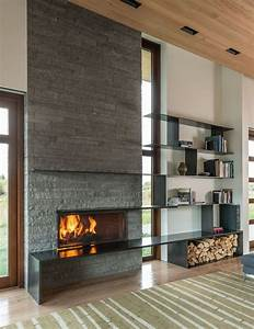 15 best fireplaces images on pinterest corner fireplace for Contemporary stone fireplace designs