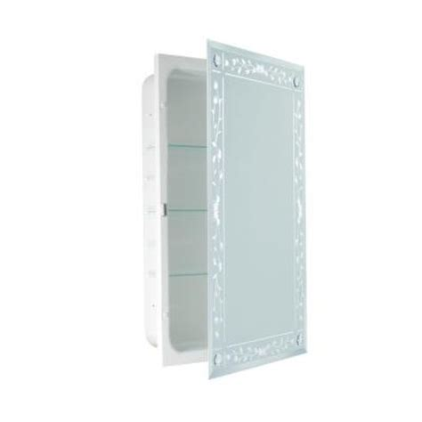 deco mirror 16 in x 26 in recessed beveled venetian with