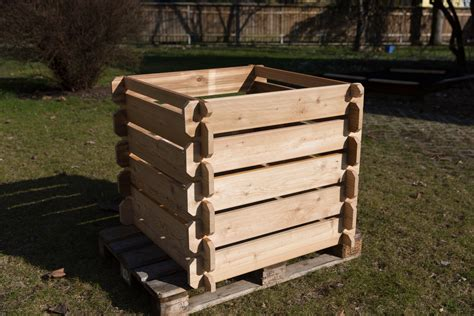 Holz  Komposter  Garten  Der Boden Onlineshop Aus