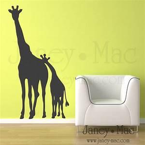 janey mac new vinyl wall art designs giraffes With giraffe wall art