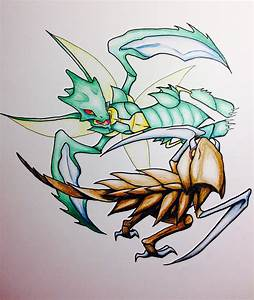 Scyther vs Kabutops by Kroutons on DeviantArt