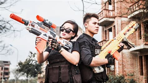 Ltt Nerf War Special Police Seal X And Best Friend Comedy