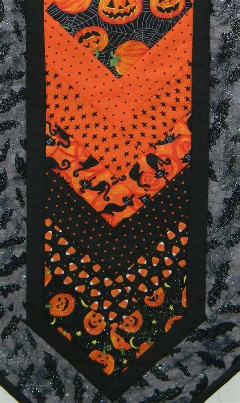 halloween quilted table runner handmade machine quilted cotton halloween table runner