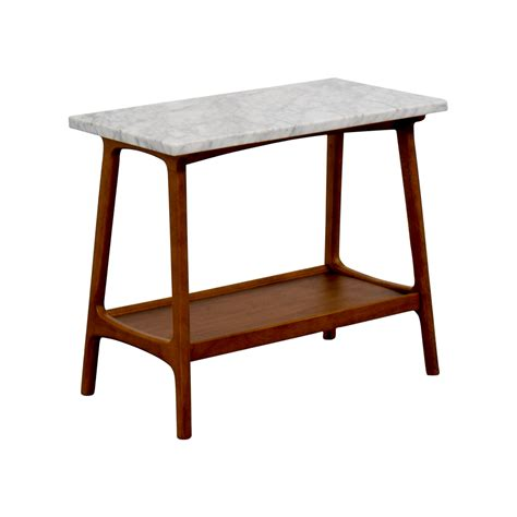 west elm side table 57 off west elm west elm reeve marble walnut side