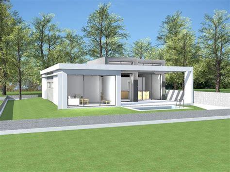 plan maison moderne toit plat plain pied