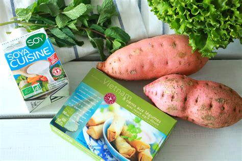 cuisiner des nems nems au légumes de picard purée de patate douce