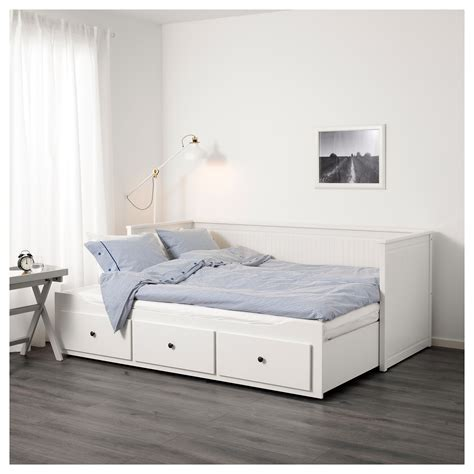26869 ikea guest bed hemnes day bed w 3 drawers 2 mattresses white moshult firm
