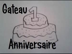Faire Un Gateau D Anniversaire : dessiner un gateau d 39 anniversaire youtube ~ Carolinahurricanesstore.com Idées de Décoration