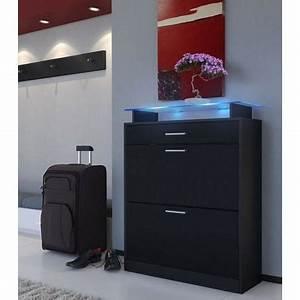 Meuble Chaussure Noir : meuble chaussure noir brillant ~ Teatrodelosmanantiales.com Idées de Décoration