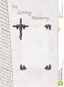 funeral guest book stock image image 28525541 With memory cross template