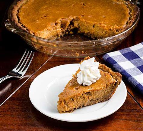 pumpkin pie with walnut crust kitchen riffs sweet potato pie with walnut crust