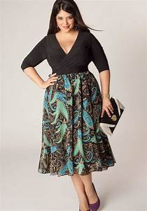 Dress designs for plus size - 2018 trends