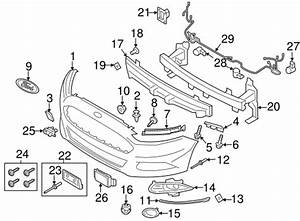 oem 2016 ford fusion bumper components front parts With visors and brackets new fog or driving light wiring harnesses picture