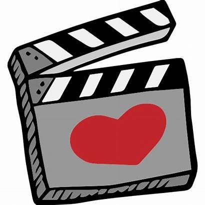 Cinema Icon Romantic Valentines Heart Icons Clapperboard