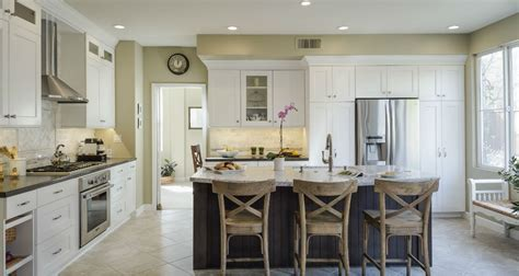 Danville White Kitchen with Large Island   MSK Design Build