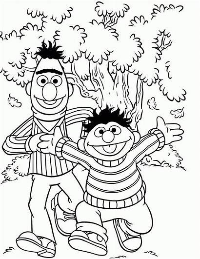 Coloring Sesame Street Count Printable Character Popular