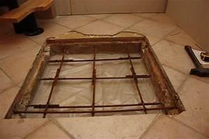 Percer Dans Du Carrelage : brico reboucher une ancienne trappe dans une dalle b ton ~ Dailycaller-alerts.com Idées de Décoration