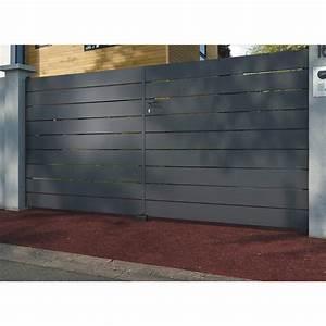 Cloture Aluminium Castorama : portail alu castorama portail coulissant occasion maison 78 ~ Melissatoandfro.com Idées de Décoration