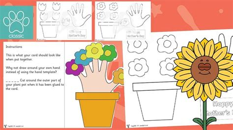 mothers day handprint flower pot card  simple